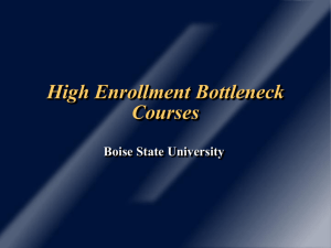 High Enrollment Bottleneck Courses