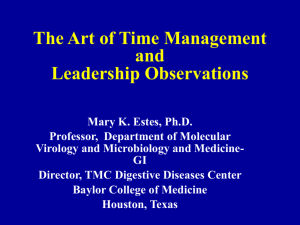 The Art of Time Management - Baylor College of Medicine