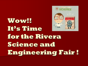 Science and Engineering Fair Presentation