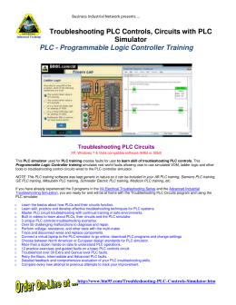 PLC Simulator Troubleshooting Training