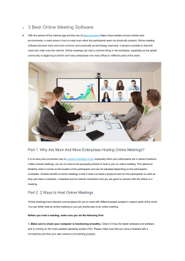 3 Best Online Meeting Software