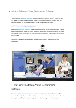 3 Useful Telehealth Video Conferencing Software