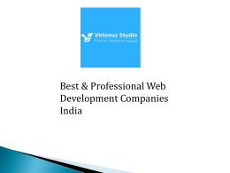 Best and Professional Web Development Companies India