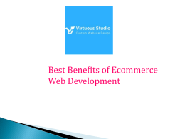 Best Benefits of Ecommerce Web Development India