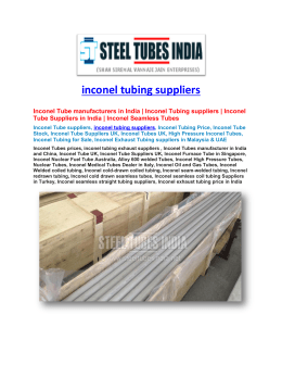 Inconel Tubing Suppliers