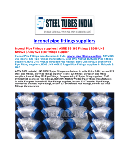 inconel pipe fittings suppliers