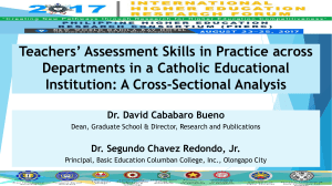 Dr David Cababaro Bueno_ Teachers' Assessment Skills in Practice across Departments