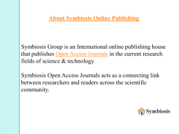About Symbiosis online publishing