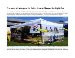 Commercial Marquee for Sale - How to Choose the Right One