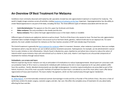 An Overview of Best Treatment For Melasma