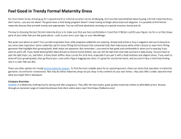 Feel Good in Trendy Formal Maternity Dress