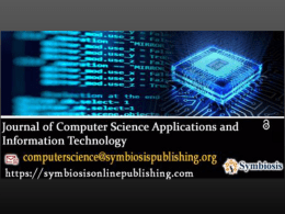 Journal of Computer Science Applications and Information Technology - Volume 2 - Issue 3 – 2017