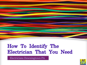 How To Identify The Electrician That You Need