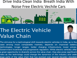 Electric CAR Revolution in India