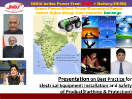 Hybrid Battery +Solar PV Grid Tie Power Project Presentation by JMV LPS