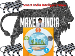 Smart India Inteligence India Presentation by JMV LPS