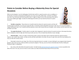 Points to Consider Before Buying a Maternity Dress for Special Occasions