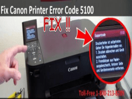 How to Fix Canon Printer Error Code 5100?1-800-213-8289