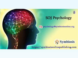 Journal of Psychology | Open Access Journal