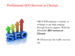 Professional SEO services in Chennai