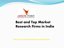 Top and Best Market Research Firms in India