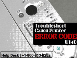 How to Fix Canon Printer Error Code U140 1-800-213-8289