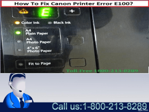Fix Canon Printer Error E100-0001 by 1-800-213-8289