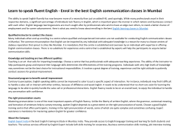Learn to speak fluent English - Enrol in the best English communication classes in Mumbai