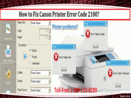 How to Fix Canon Printer Error Code 2100 18002138289