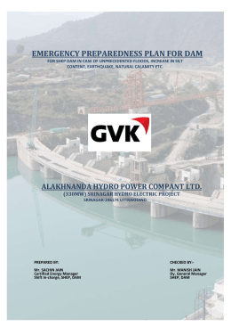 Emergency Action Plan for DAM (DRAFT) - (330MW) SHEP