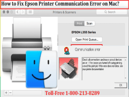 Fix Epson Printer Communication Error on Mac by dialing 18002138289