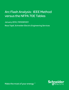 SCHNEIDER-ARC FLASH ANALYSIS-IEEE vs NFPA 70E TABLES
