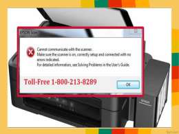 Fix Epson Printer Communication Error While Scanning by  18002138289