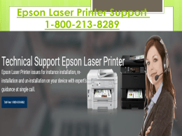 Epson Laser Printer Support Number 1-800-213-8289 For Setup Epson Printer