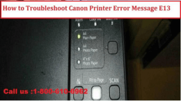 1-800-213-8289 How to Fix Canon Printer Error Message E13?