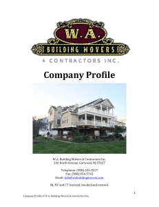 W.A. Building Movers