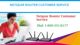 Dial 18003358177 Netgear Router Customer Service