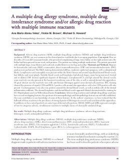 Multiple drug allergy syndrome