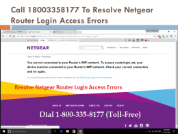 Call 18002046959 To Resolve Netgear Router Login Access Errors