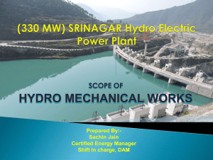 Scope of Hydro Mechanical Works - 330 MW SHEP