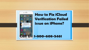 1-800-608-5461 How to Fix iCloud Verification Failed issue on iPhone?