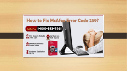 Dial 1-800-583-7461 Toll-Free|How to Fix McAfee Error Code 259?