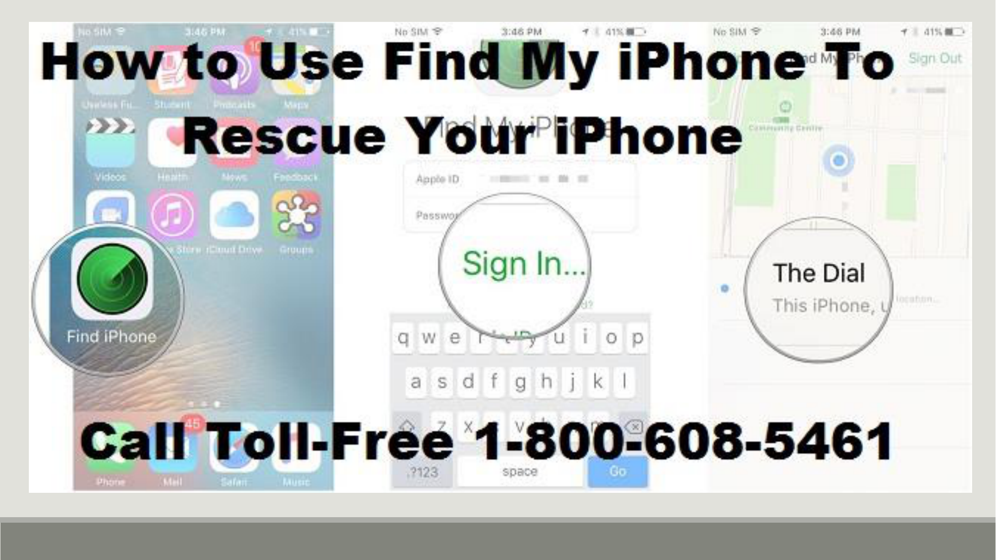 Call 1-800-608-5461|How to Use Find My iPhone To Rescue Your
