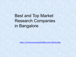 Best Market Research Companies in Bangalore