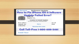 1-800-608-5461|How to Fix iPhone iOS 11 Software Update Failed Error?