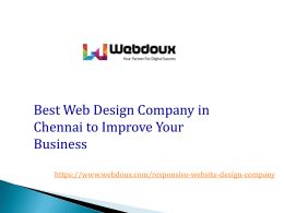 Professional and Best Web Design Company in Chennai