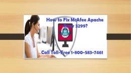 How to Fix McAfee Apache Error 3299? Call Toll-Free 1-800-583-7461