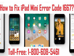 How to Fix iPad Mini Error Code 1667? 1-800-608-5461 For iPad Help