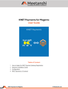 Magento KNET Payments