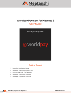 Magento 2 Worldpay Payment